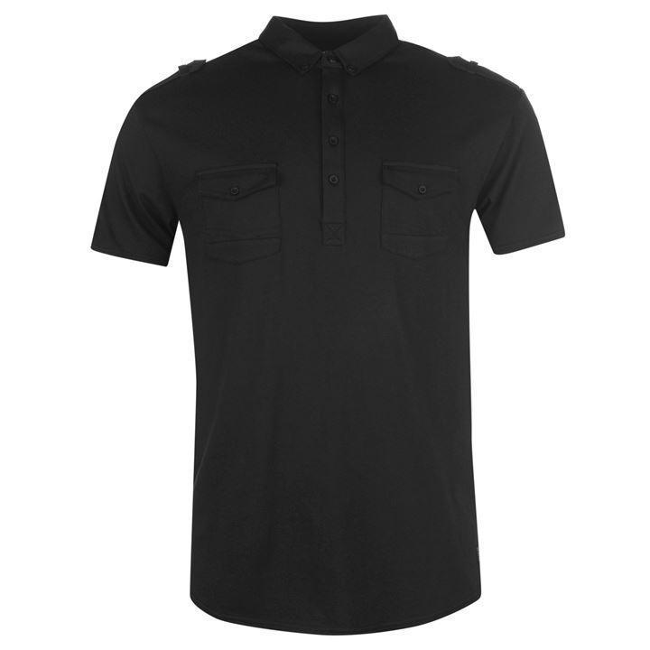 Мужское черное поло Firetrap double pocket polo 48 размер оригинал