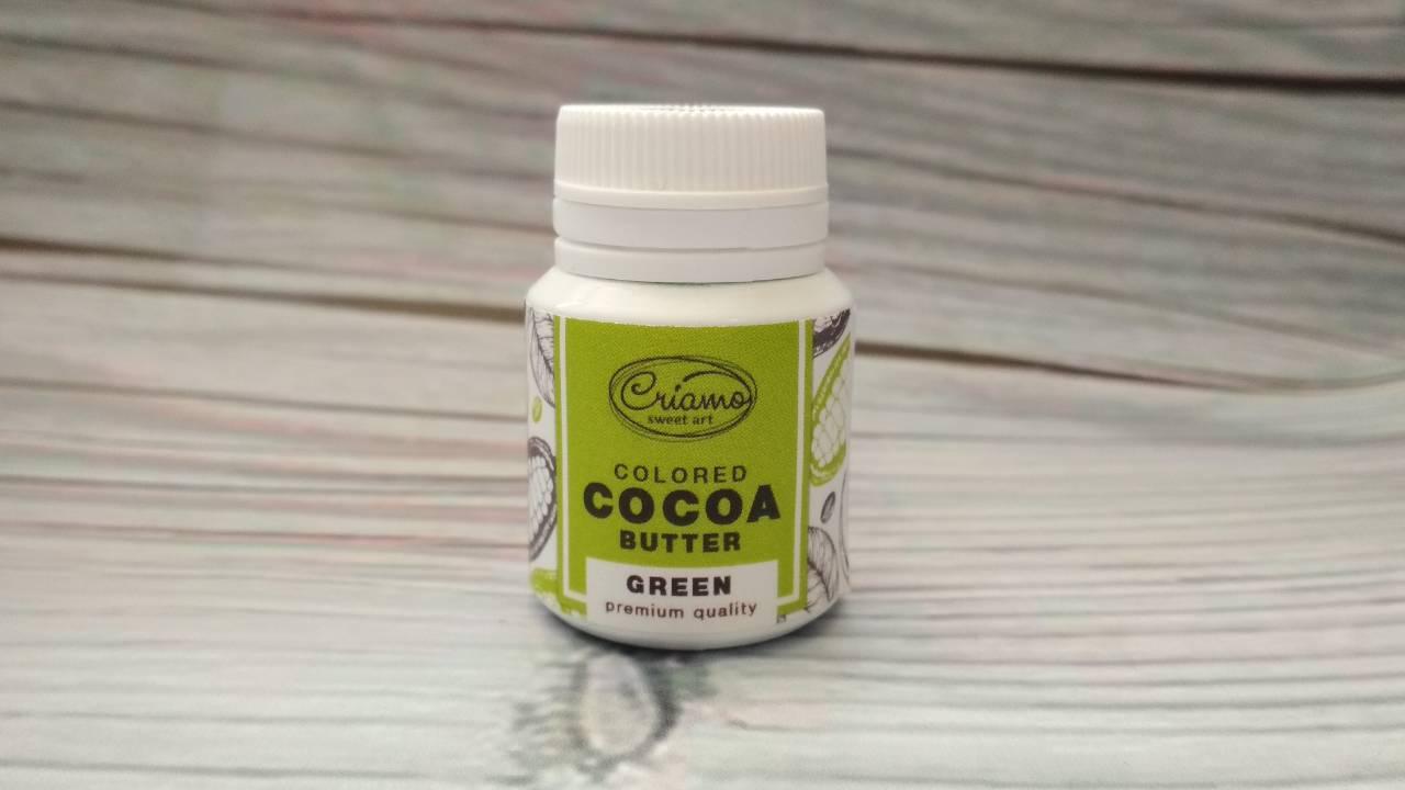 Краситель жирорастворимый для шоколада, Зеленый 18г
