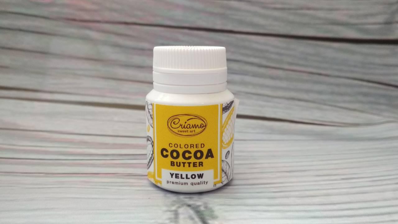 Краситель жирорастворимый для шоколада, Желтый  18г