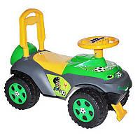 Машинка для катания Автошка музыкальная салатовая - серо - желтая0142, Долони Украина013117