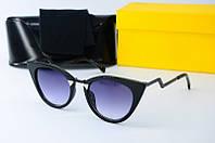 Солнцезащитные очки Fendi черные, фото 1