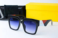 Солнцезащитные очки квадратные Fendi черные, фото 1