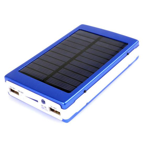 Power Bank 25000 mAh зарядка на солнечной батарее + фонарь 20 светодиодов.