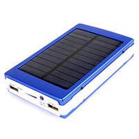 Power Bank 25000 mAh зарядка на солнечной батарее + фонарь 20 светодиодов., фото 1