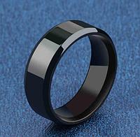 Кольцо черное мужское, унисекс 17, 18, 19, 20, 21й размеры