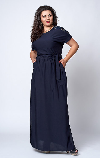 "Платье ""Маргарита"" размер 54,56,58 темно-синее"