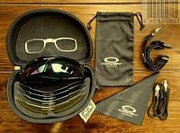 Тактические очки Oakley (5линз+) с поляризацией. Велоочки, для охоты.