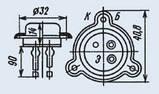 П210Б транзистор германиевый  PNP (12А 50В) (h21Э >10) 45W, фото 3