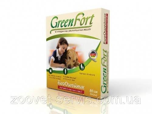 Биоошейник от блох и клещейдля крупных собакGreenFort80см