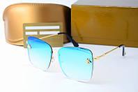 Солнцезащитные очки Gucci квадратные голубые, фото 1
