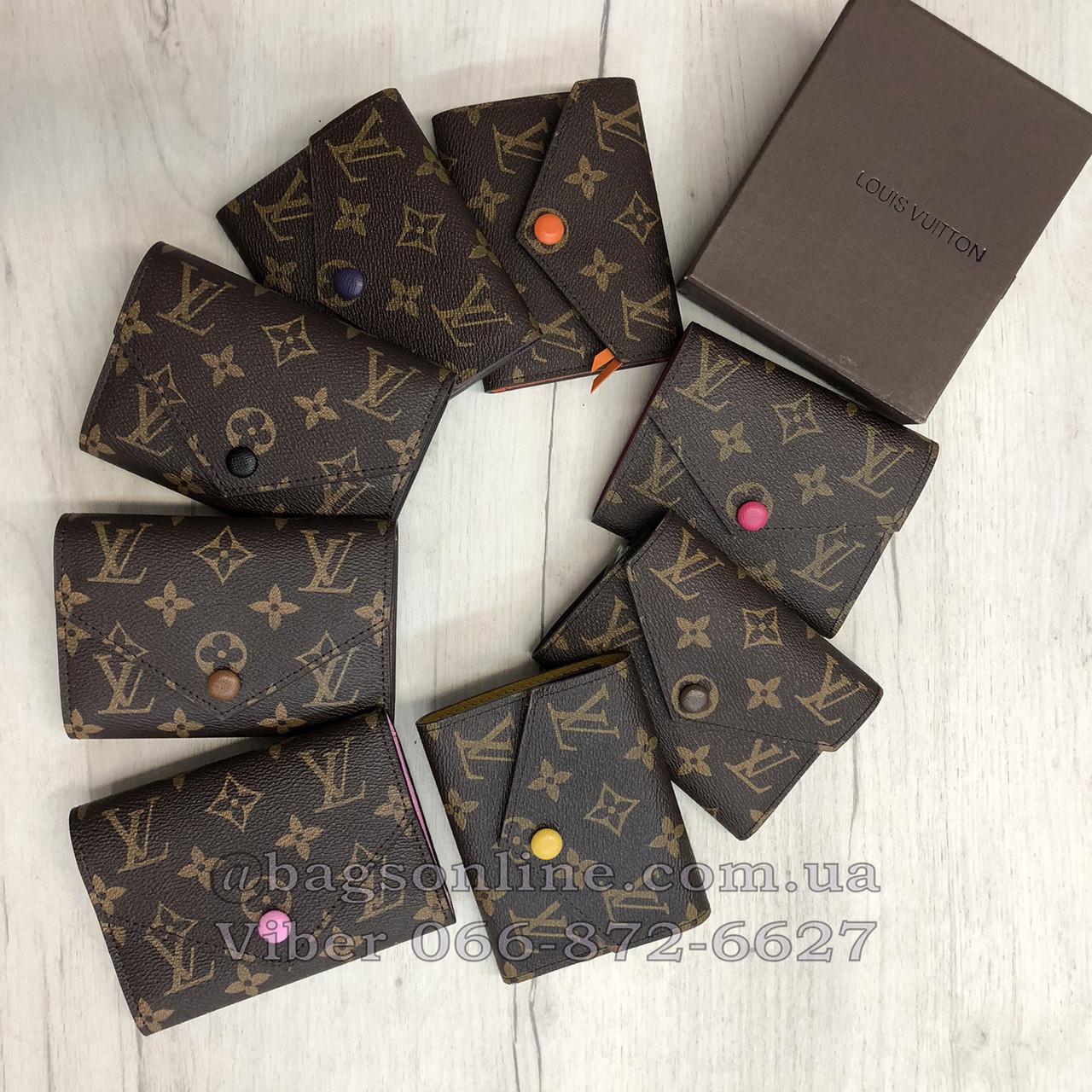 260edc940a09 Кошелек Louis Vuitton Monogram Мини на кнопке   lv монограм   Луи Витон  Кофейный
