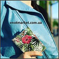 """Обложка на паспорт """"Цветы с тропическими листями"""""""