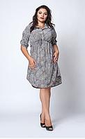 Платье- рубашка летнее большой размер