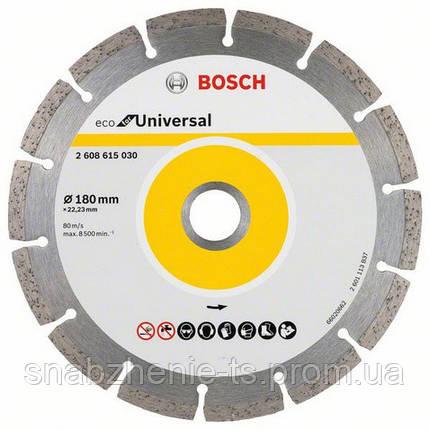 Алмазный отрезной круг 180 мм x 22,23 мм, ECO for Universal BOSCH, фото 2