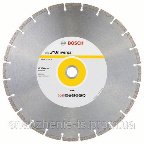 Алмазный отрезной круг 350 мм x 25 мм, ECO for Universal BOSCH