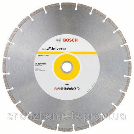 Алмазный отрезной круг 350 мм x 25 мм, ECO for Universal BOSCH, фото 2