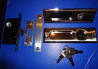Ручка + замок на раздвижные двери нержавейка, фото 1