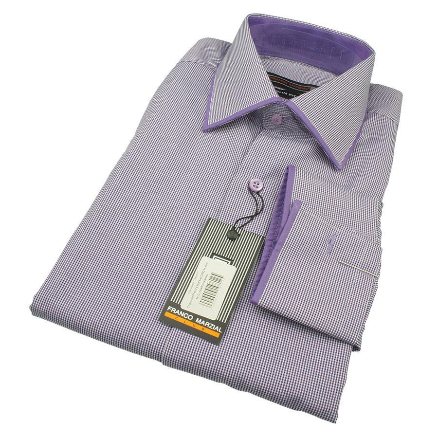 Мужская фиолетовая рубашка Franco Marzial 0350 H slim С размер М