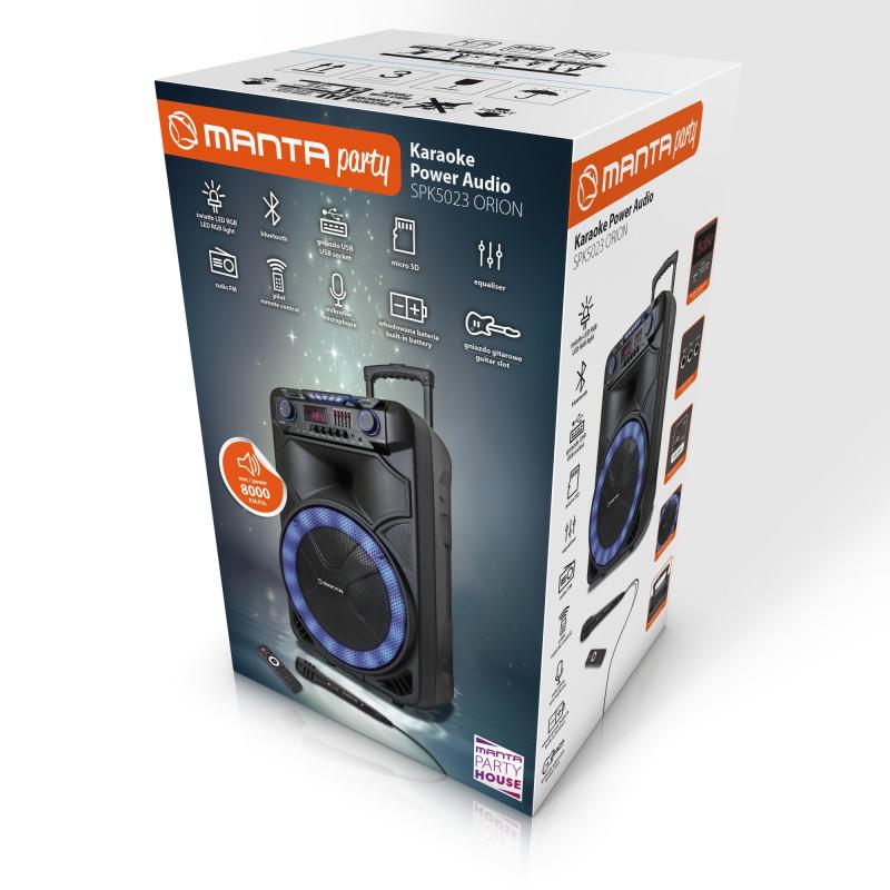 Мощная акустика на аккумуляторе Manta  SPK 5023 orion