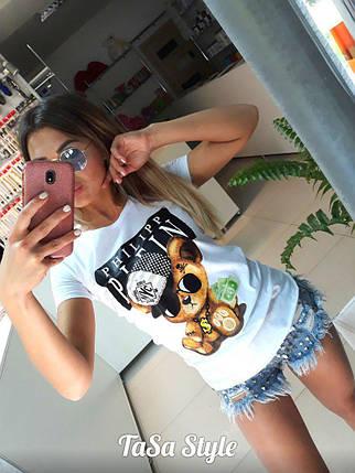 Женская футболка с мишкой, фото 2