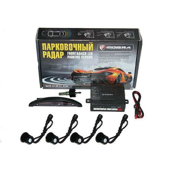 Парктроник Cobra LP-10140/LED/4 датчика D=18mm/коннектор/black