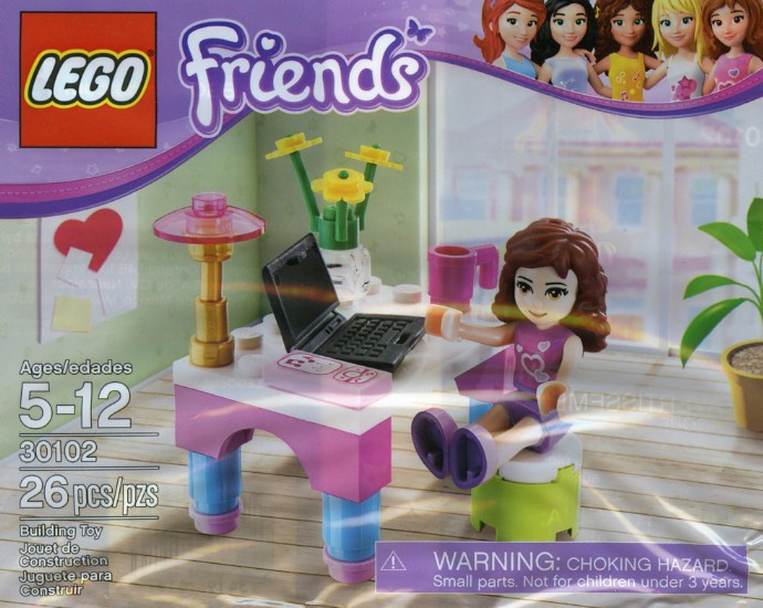 Lego Friends Столик Оливии 30102