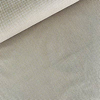 Хлопковая ткань (ТУРЦИЯ шир. 2,4 м) горох 2 мм белый на светло-коричневом