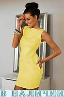 Платье женское туника 85 см  с карманами без рукавов 42 44 46 48 50 Р, фото 1