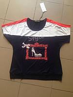 Стильная женская футболка батал Турция оптом со склада