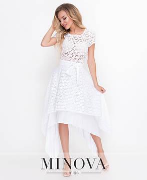 4ea7b65af5d Платье миди женское №4114Н белое  продажа