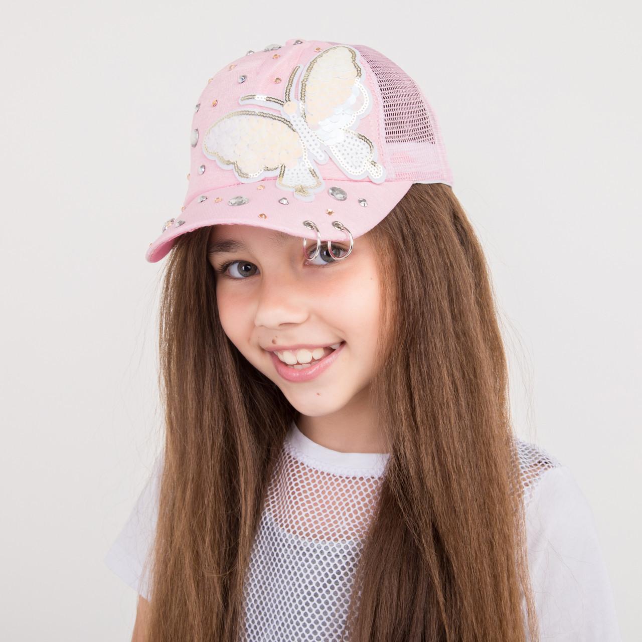 Стильная бейсболка для девочек - Butterfly - 32018-3