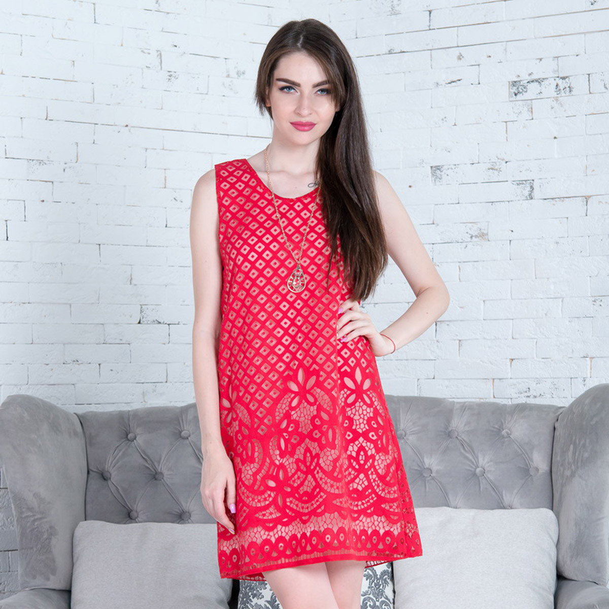 """Червоне літнє плаття """"Меліса"""""""