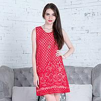 """Червоне літнє плаття """"Меліса"""", фото 1"""