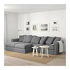 4-местный диван с шезлонгом IKEA GRÖNLID Ljungen серый 392.560.71, фото 2