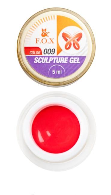 Гель-жвачка F.O.X Sculpture gel №9, 5 мл красная