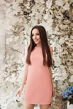 """Однотонное асимметричное летнее женское платье с коротким рукавом """"Невада"""" мятное, фото 2"""