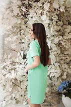 """Повседневное широкое летнее женское платье, стрейч """"Невада"""" синее, фото 2"""