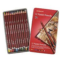 Набор пастельных карандашей Derwent Pastel Pencils 12 цв. в металлической коробке 32991