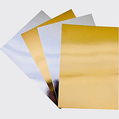 Картон зеркальный А4 250 г/м2, 10 шт. золото+серебро