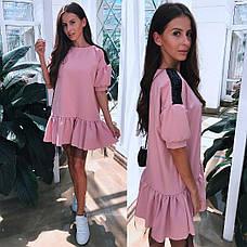 Платье свободное с фатином и пайетками , фото 2