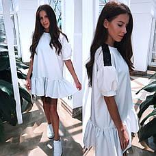 Платье свободное с фатином и пайетками , фото 3