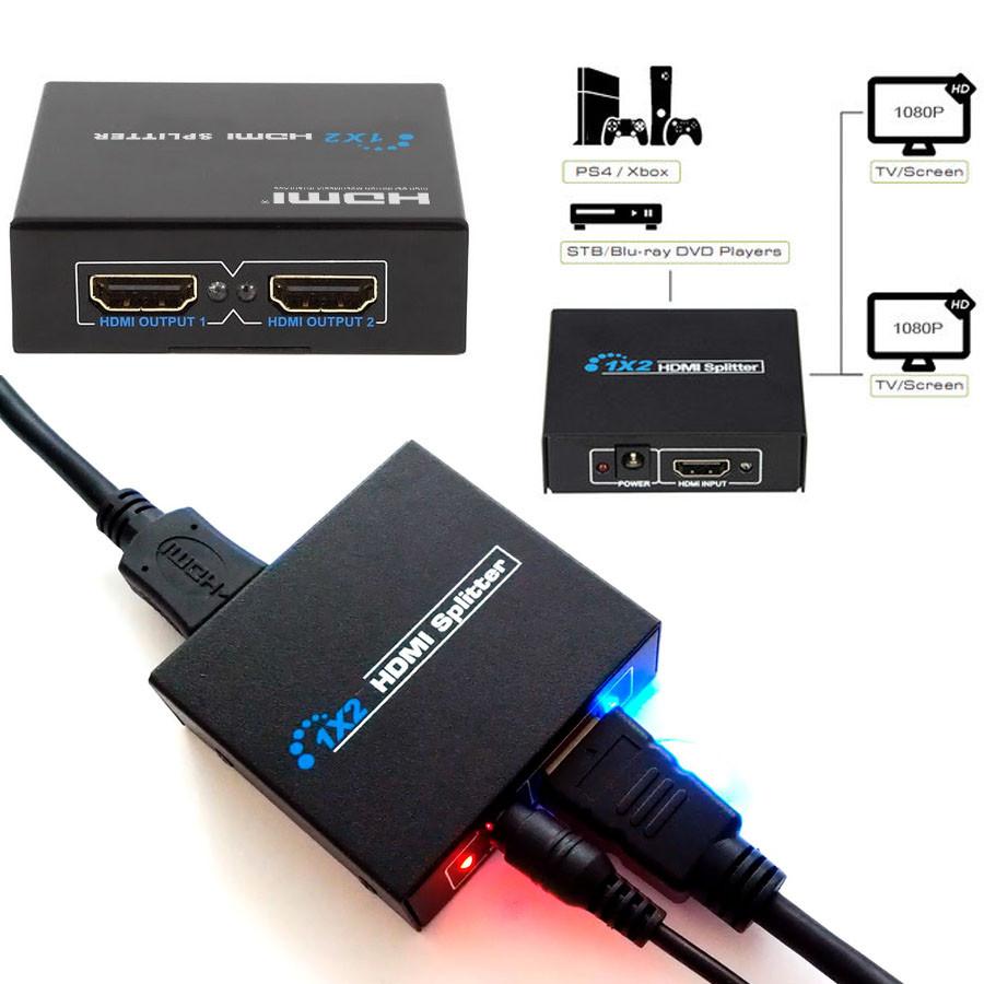 Активный разветвитель HDMI сигнала на 2 телевизора