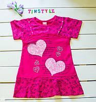 Летнее платье- туника на девочку на рост 104 и 116  см