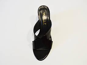 Шлепанцы лакированные черные Nivelle 1489, фото 3