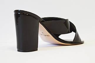 Шлепанцы лакированные черные Nivelle 1489, фото 2