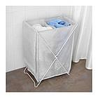 Корзина для белья IKEA TORKIS 90 л белая серая 903.199.75, фото 2