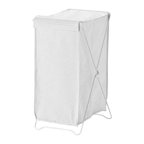 Корзина для белья IKEA TORKIS 90 л белая серая 903.199.75