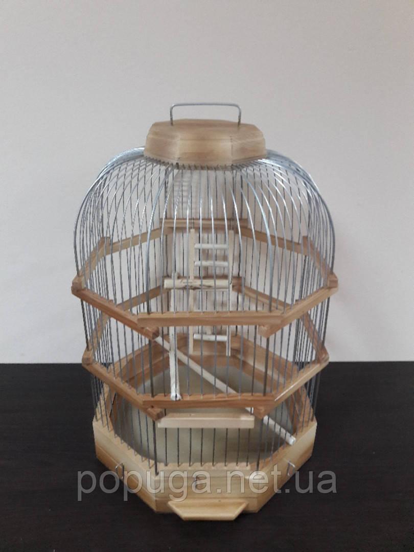 Деревянная клетки шестигранная для птиц