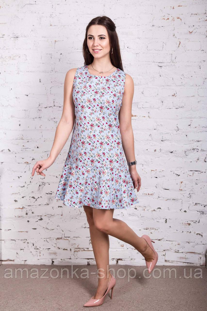 Женское цветочное платье весна-лето 2018 - Код пл-258
