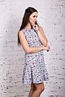 Женское цветочное платье весна-лето 2018 - Код пл-258, фото 2